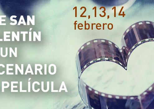 Banner para celebración de San Valentín en Sevilla en restaurante Abades Triana